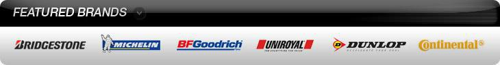 We proudly carry products from Michelin®, BFGoodrich®, Uniroyal®, Continental, Dunlop, and Bridgestone.