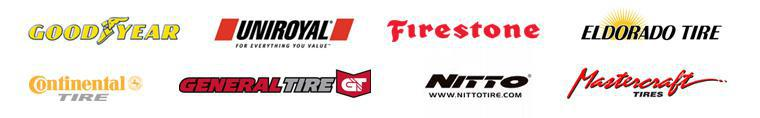 We carry products from Goodyear, Uniroyal®, Firestone, Eldorado, Continental, General, Nitto, and Mastercraft.