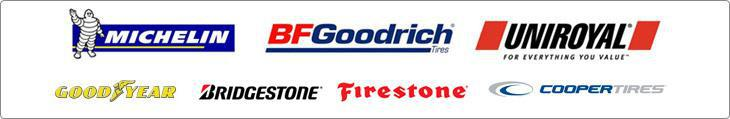 We carry top brand tires from Michelin®, BFGoodrich®, Uniroyal®, Goodyear, Bridgestone, Firestone, and Cooper.