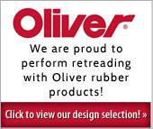 We are proud to perform retreading with Oliver rubber products!