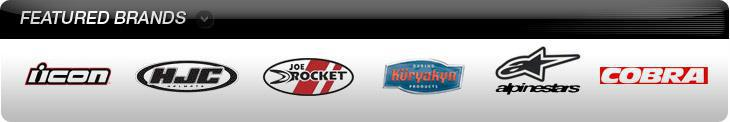 We carry products from Icon, HJC, Joe Rocket, Kuryakyn, Alpinestars, and Cobra.