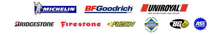 We proudly carry products from Michelin®, BFGoodrich®, Uniroyal®, Bridgestone, Firestone, Fuzion, and BG. We honor the Pronto Nationwide Protection Plus Warranty. Our technicians are ASE certified.