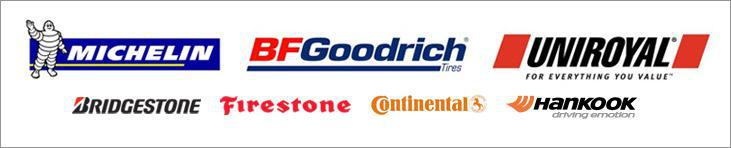 We carry products from Bridgestone, Firestone, Michelin®, BFGoodrich®, Uniroyal®; Continental, and Hankook.