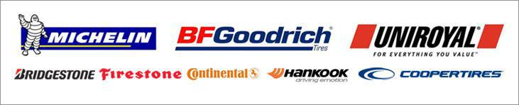 We carry products from Michelin®, BFGoodrich®, Uniroyal®; Bridgestone, Firestone, Continental, Hankook, and Cooper.