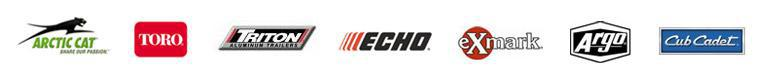 We offer great products by Arctic Cat, Toro, Triton Trailers, ECHO, Exmark, ARGO, and Cub Cadet.