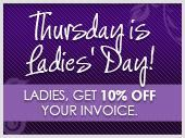 Thursdays are Ladies' Day!