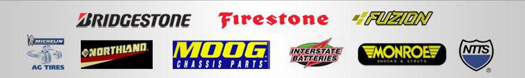 We carry products from Bridgestone, Firestone, Fuzion, Michelin® Agricultural Tires, Northland Oil, Moog, Interstate Batteries, and Monroe Shocks & Struts. We are part of the NTTS Breakdown Directory.