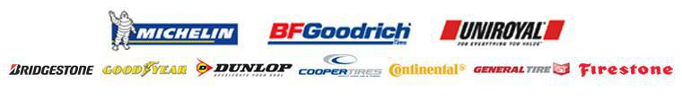 We carry products from Michelin®, BFGoodrich®, Uniroyal®, Bridgestone, Goodyear, Dunlop, Cooper, Continental, General, and Firestone.