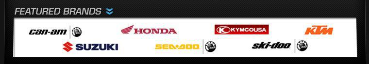 We proudly carry products by Can-Am, Honda, KYMCO, KTM, Suzuki, Sea-Doo, and Ski-Doo.
