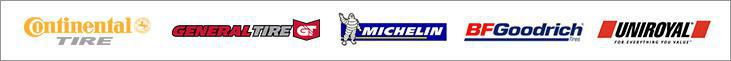 We carry products from Continental, General, Michelin®, BFGoodrich®, and Uniroyal®.