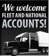 We welcome fleet and national accounts!