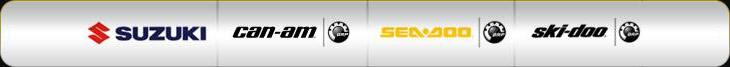 We carry products from Suzuki, Can-Am, Sea-Doo, and Ski-Doo.