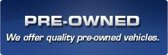 We offer quality pre-owned vehicles! Click here to check them out.