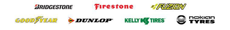 We proudly carry products from Bridgestone, Firestone, Fuzion, Goodyear, Dunlop, Kelly, and Nokian.