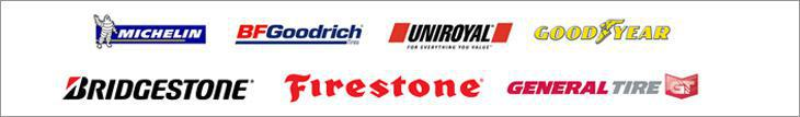 We proudly carry Michelin®, BFGoodrich®, Uniroyal®, Goodyear, Bridgestone, Firestone and General.