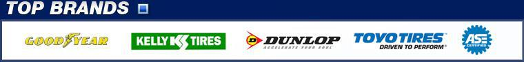 We carry products from Goodyear, Kelly, Dunlop, and Toyo Tires. Our technicians are ASE-certified.