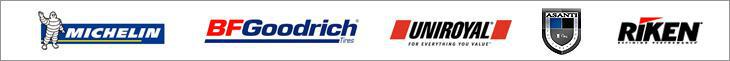 We are proud to carry tires from Michelin®, BFGoodrich®, Uniroyal®, Asanti and Riken!