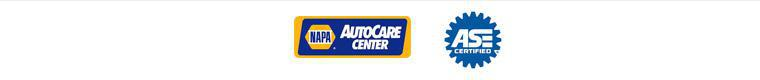 We are a NAPA CarCare Center. Our technicians are ASE certified.