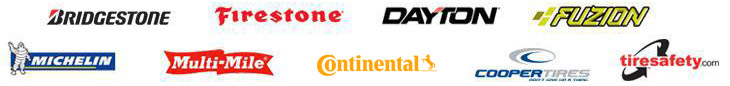 We carry products from Bridgestone, Firestone, Dayton, Fuzion, Michelin®, Multi-Mile, Continental, and Cooper.