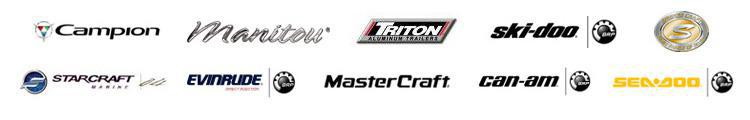 We carry product by Campion, Manitou, Triton Trailers, Ski Doo, Smoker Craft, Starcraft, Evinrude, MasterCraft, CanAm, and Sea Doo.