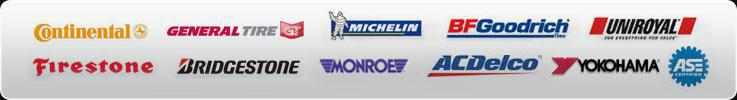 We proudly carry products from Continental, General, Michelin®, BFGoodrich®, Uniroyal®, Bridgestone, Firestone, Monroe, ACDelco, and Yokohama. Our technicians are ASE certified.