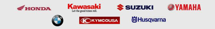 We proudly carry products from Honda, Kawasaki, Suzuki, Yamaha, BMW, KYMCO, and Husqvarna.