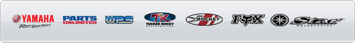 We are proud to carry products from Yamaha, Parts Unlimited, WPS, Tucker Rocky, Joe Rocket, Fox Racing, and Star Motorcycle!
