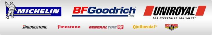 We proudly carry products from Michelin®, BFGoodrich®, Uniroyal®, Bridgestone, Firestone, General, Continental, and Mickey Thompson.