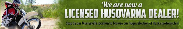 We are now a licensed Husqvarna dealer!