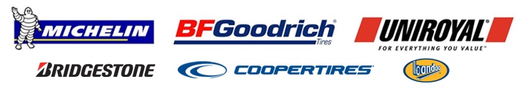 We proudly carry products by Michelin®, BFGoodrich®, Uniroyal®, Bridgestone, Cooper, and Bandag.
