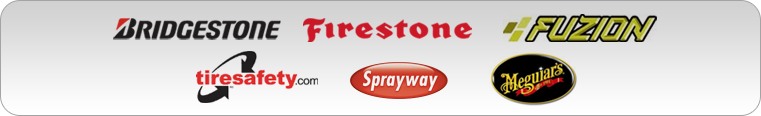 We carry products from Bridgestone, Firestone, Fuzion.