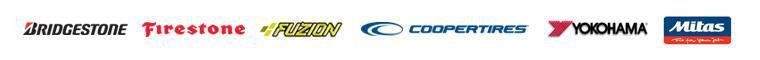 We carry products from Bridgestone, Firestone, Fuzion, Cooper Tire, Yokohama, and Mitas.