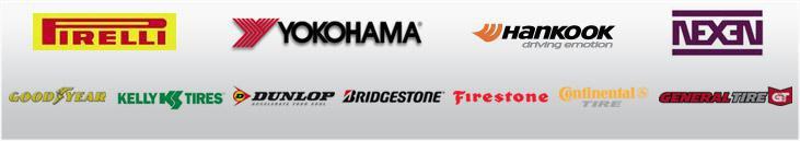 We are proud to carry products from Pirelli, Yokohama, Hankook, Nexen, Goodyear, Kelly, Dunlop, Bridgestone, Firestone, Continental and General Tire!