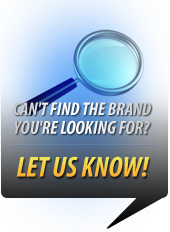 Can't find the brand you're looking for? Let us know!