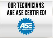 Our technicians are ASE certified!