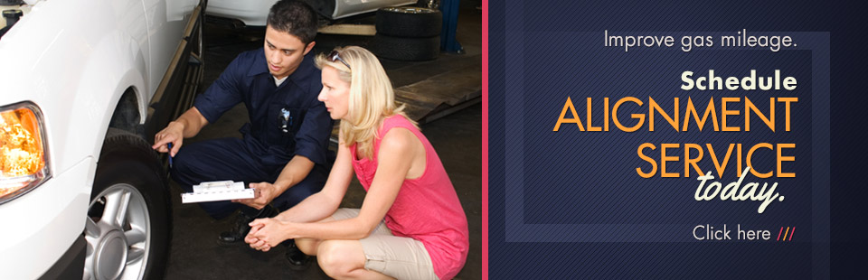 Schedule alignment service today. Click here for details.