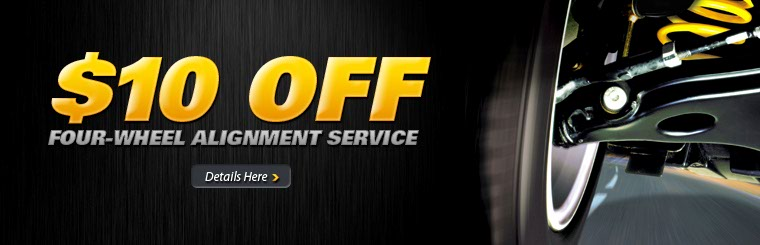 $10 Off Four-Wheel Alignment Service