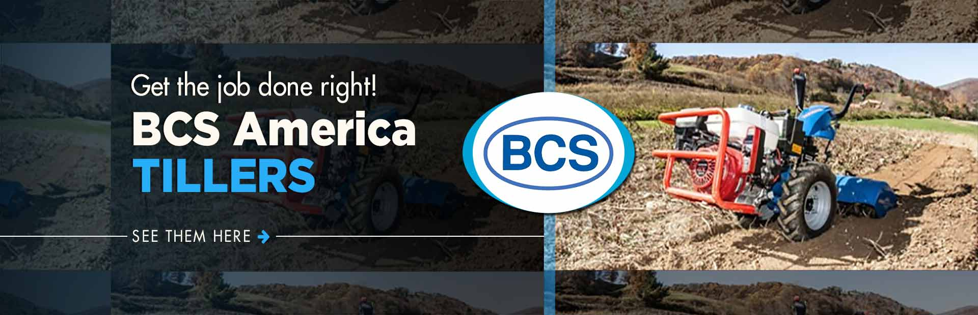 BCS America Tillers: Click here to view the showcase!