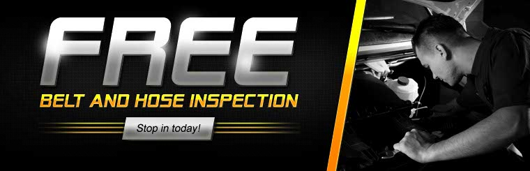 Stop in today to get a free belt and hose inspection. Click here to contact us.