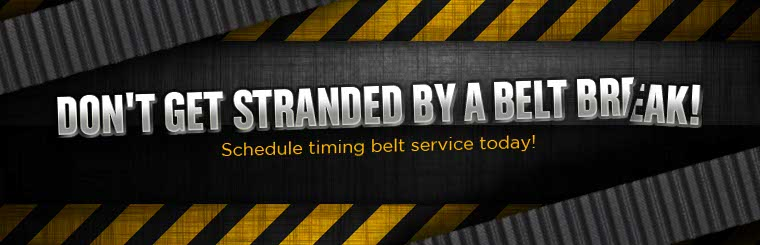 Don't get stranded by a belt break! Schedule timing belt service today! Click here to learn more.