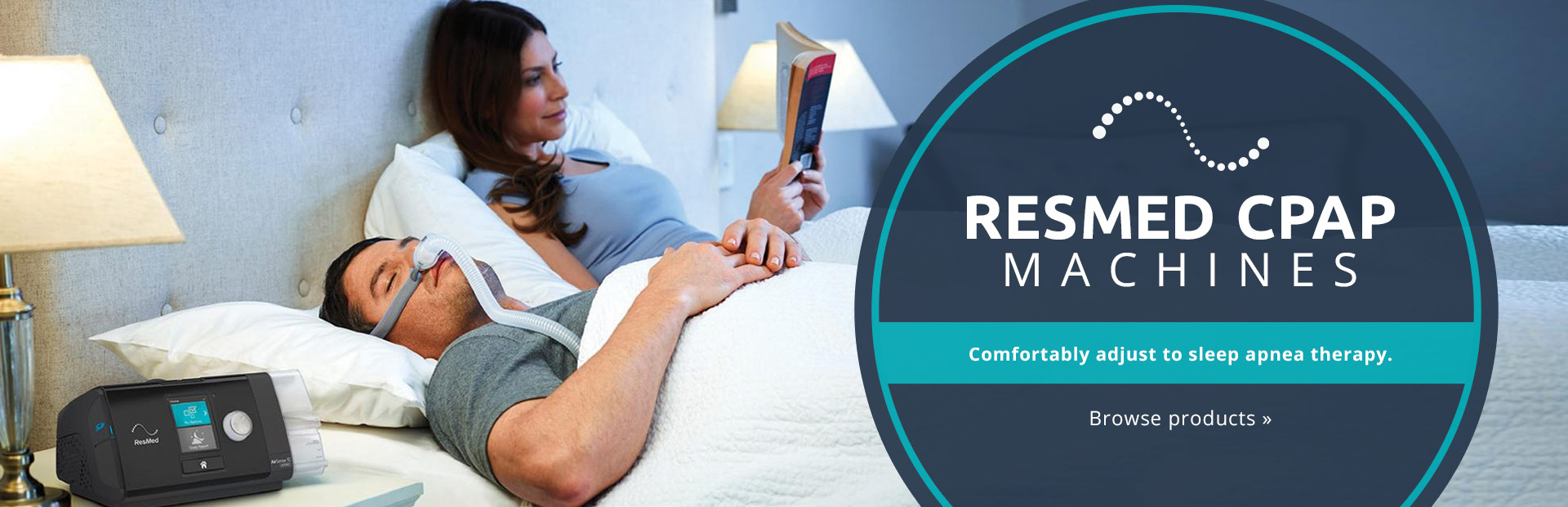 ResMed CPAP machines allow you to comfortably adjust to sleep apnea therapy! Click here to browse ou