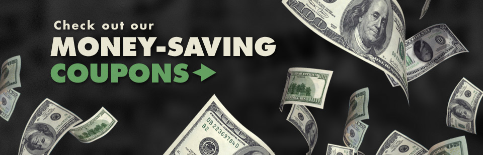Check out our money-saving coupons!