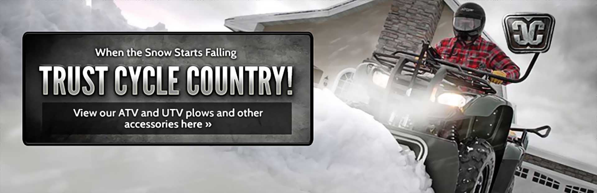 Click here to view Cycle Country plows and accessories.