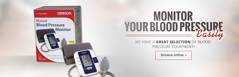 Monitor your blood pressure easily with our large selection of blood pressure equipment! Click here