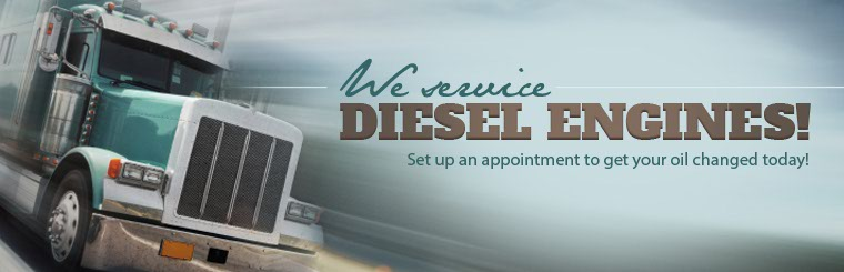 We service diesel engines! Set up an appointment to get your oil changed today.