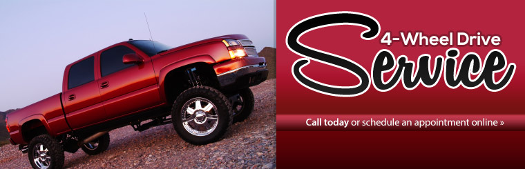 4-Wheel Drive Service: Click here to schedule service online.