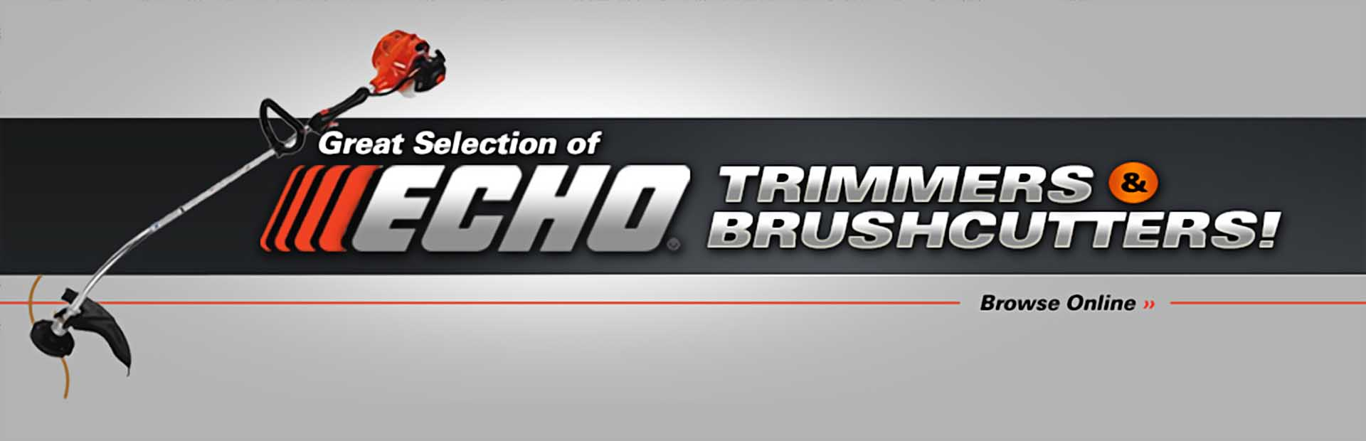 Click here to browse our great selection of ECHO trimmers and brushcutters.