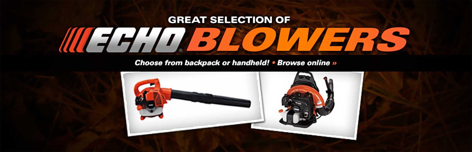 Click here to view our great selection of ECHO blowers.
