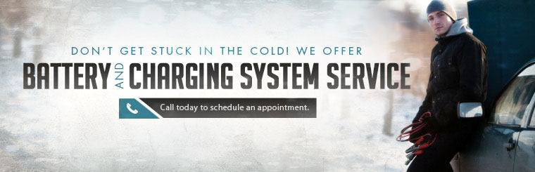 We offer battery and charging system service! Call today to schedule an appointment.