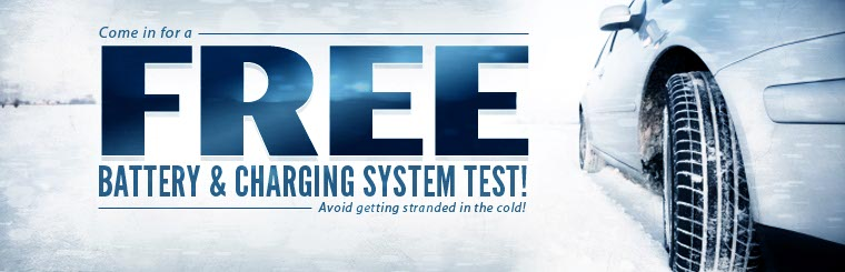 Stop in for a free battery and charging system test! Contact us for more information.